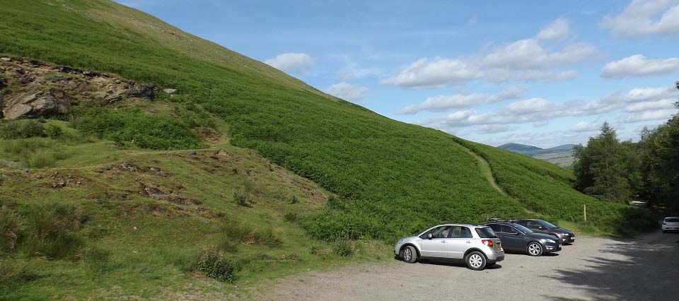 Blencathra Mountain top car park image