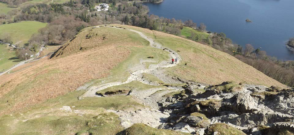 Catbells lower section image
