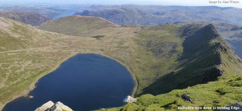 Helvellyn view to Stridding Edge image