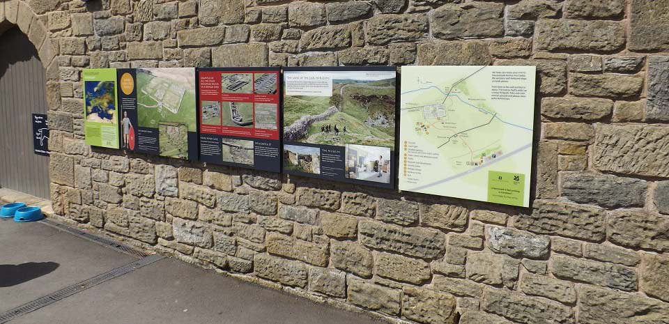 Housesteads Information Board image