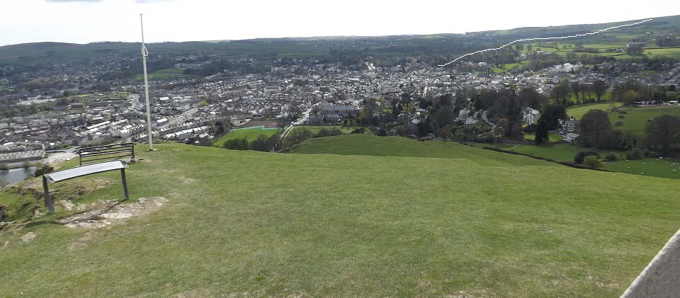 Ulverston from the Monuent image